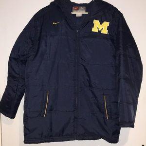 Nike MICHIGAN puffy coat SZ L